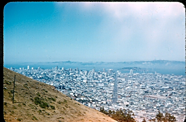 Overlooking the city from Twin Peaks.