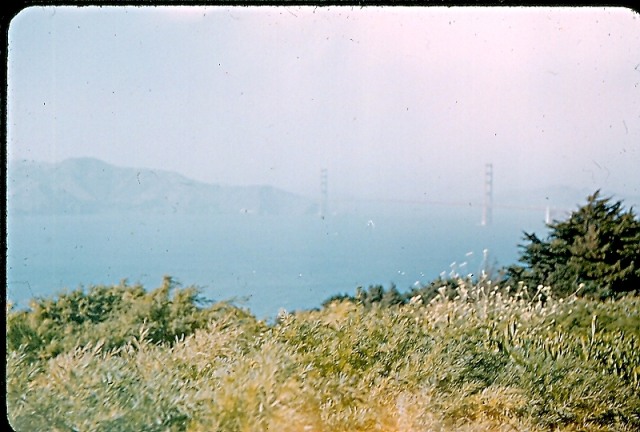 Another hazy view of the Golden Gate Bridge.
